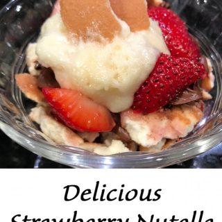 Delicious Strawberry Nutella Cup Dessert