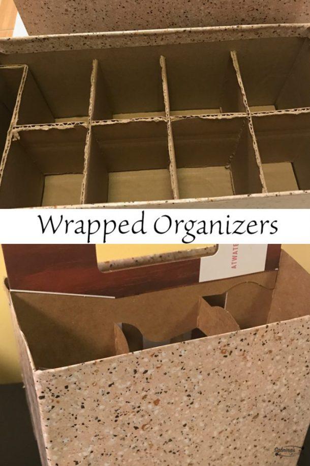 wrapped cardboard organizers