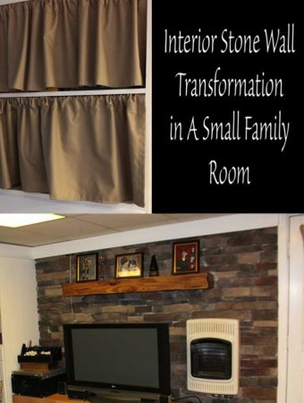 Interior Stone Wall Transformation in A Small Family Room
