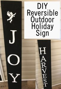 How to make a Harvest and Joy Reversible Outdoor Sign