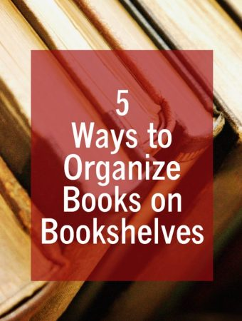 5 ways to organize books on bookshelves