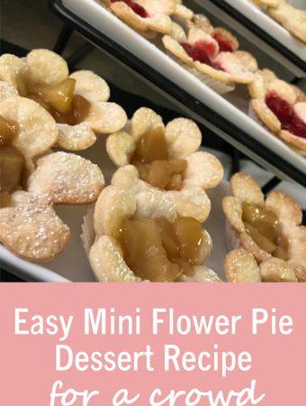 Easy Mini Flower Pie Dessert Recipe for a crowd