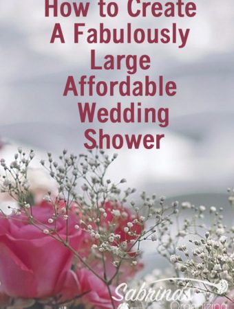 How to Create A Fabulously Large Affordable Wedding Shower