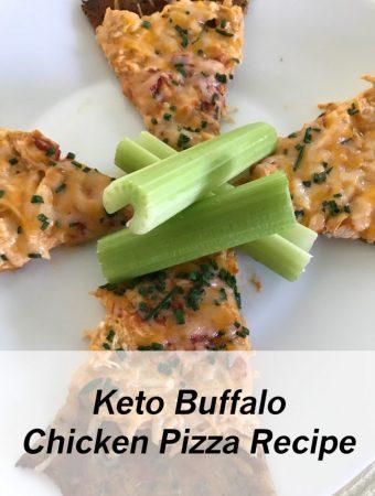 Keto Buffalo Chicken Pizza Recipe