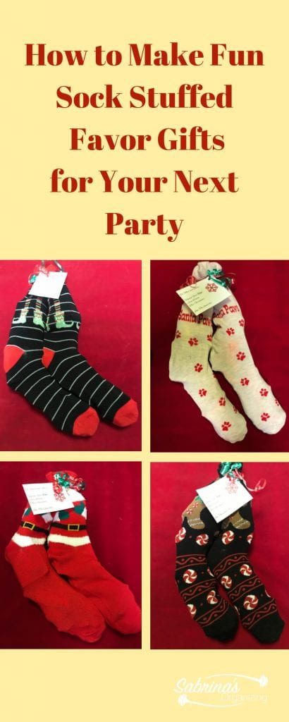 How to Make Fun Sock Stuffed Favor Gifts for Your Next Party