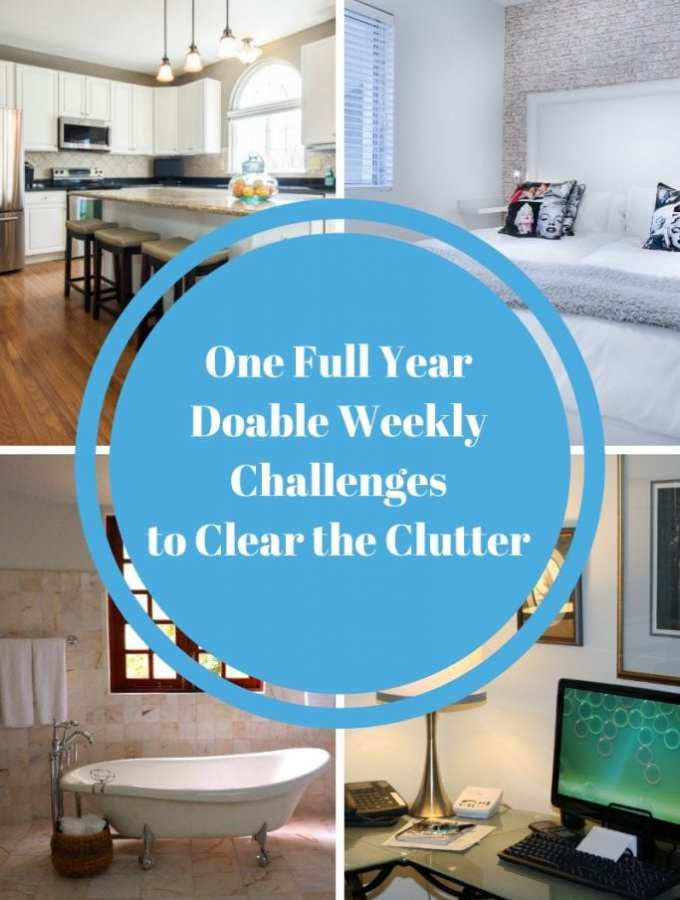 One Full Year Doable Weekly Challenges to Clear the Clutter