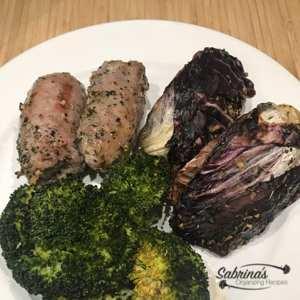 KETO Italian Sausage Broccoli and Radicchio Sheet Pan Recipe