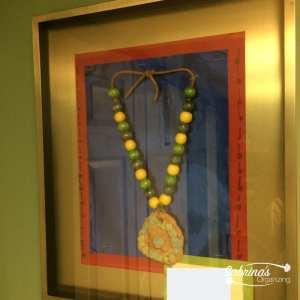 Artwork from kids framed