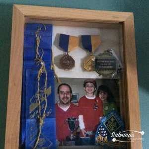 Use shadow boxes with an opening in the front