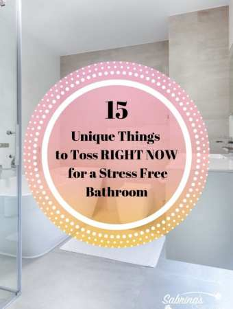 15 Unique Things to Toss right now for a Stress Free Bathroom