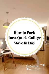 How to Pack for a Quick College Move In Day