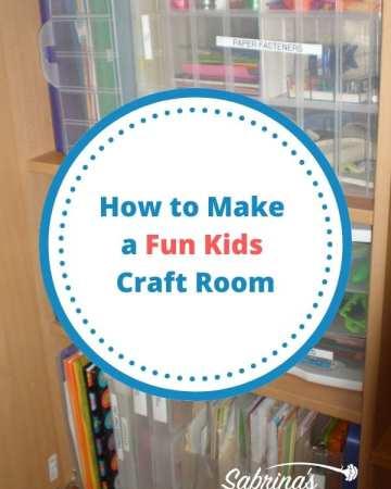 How to Make a Fun Kids Craft Room