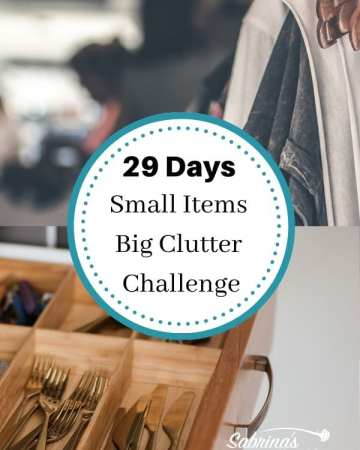 29 Days Small Items Big Clutter Challenge