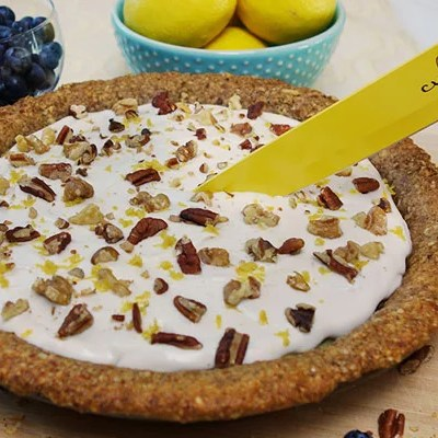 No-Bake Paleo Lemon Blueberry Cream Pie