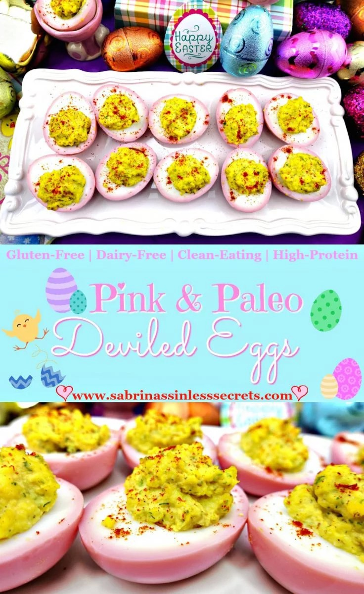 These Pink & Paleo Deviled Eggs are not only attractive, but also they're incredibly delicious! Bite-sized foods seem to always be a popular choice, and I think deviled eggs are appetizing to, pretty much, anybody! However, these deviled eggs are not your typical egg—they're Paleo, gluten-free, dairy-free, clean-eating, and high-protein.