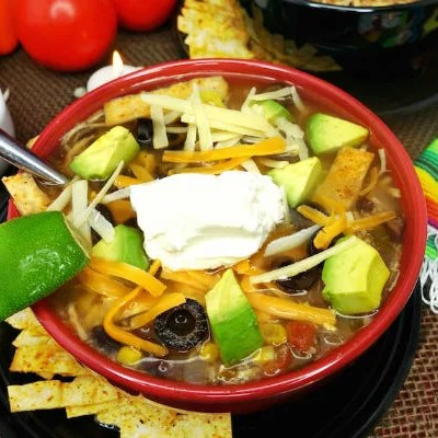 Gluten Free Chicken Tortilla Soup Slow Cooker Recipe