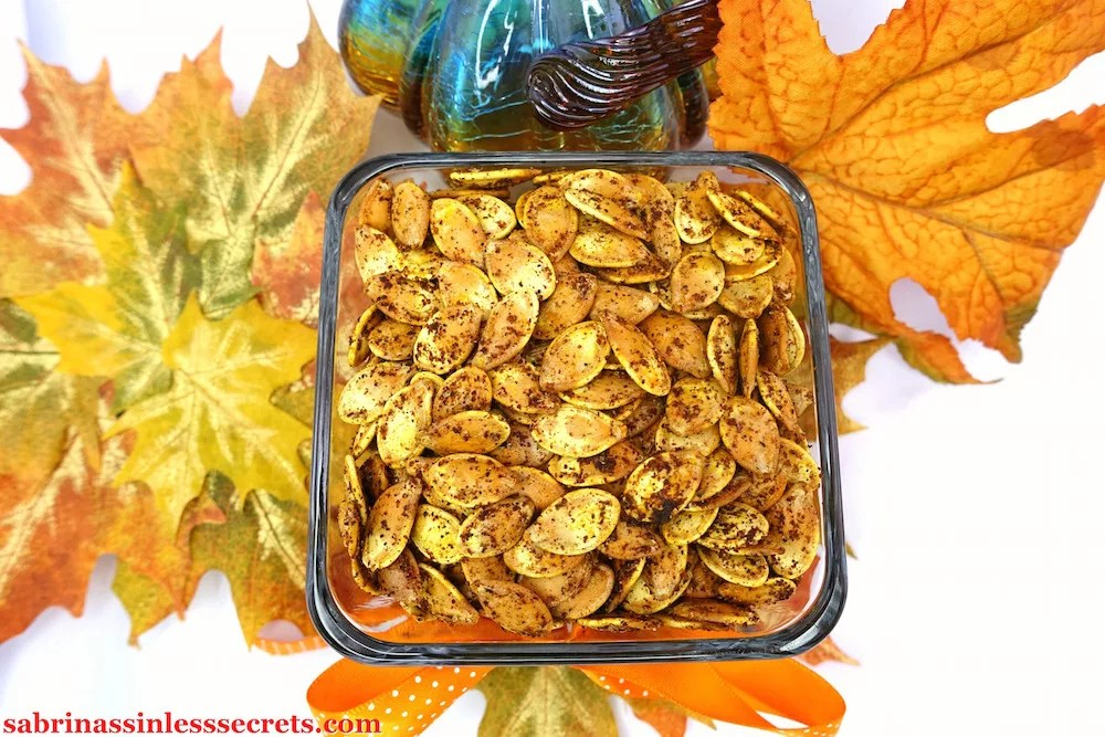 These Spicy Roasted Pumpkin Seeds are full of flavor, making them the perfect tasty and nutritious snack! Besides their addictive fiery seasoned taste, they're naturally Paleo, gluten-free, dairy-free, vegan, refined sugar-free, and clean-eating!
