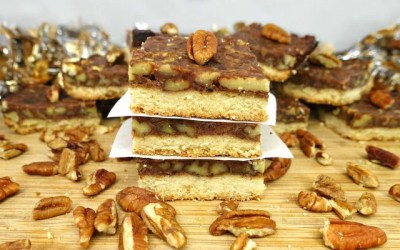 Paleo and Vegan Pecan Pie Bars