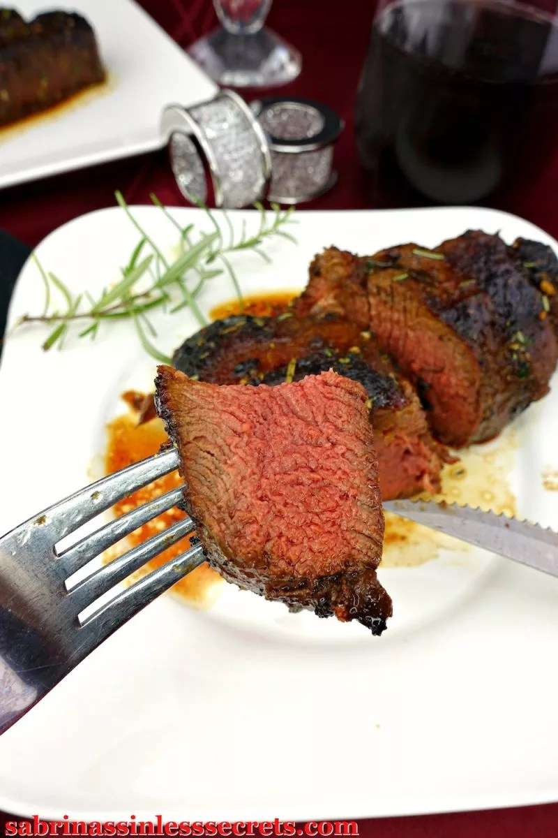 This Paleo Filet Mignon for Two is thick, juicy, tender, and so tasty! You won't feel like you're sacrificing anything at all, because you so aren't. This succulent steak is just what your taste buds are salivating for! It's gluten-free, dairy-free, refined sugar-free, easy to prepare, and clean-eating!