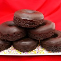 Paleo Chocolate Donuts with Dark Chocolate Icing