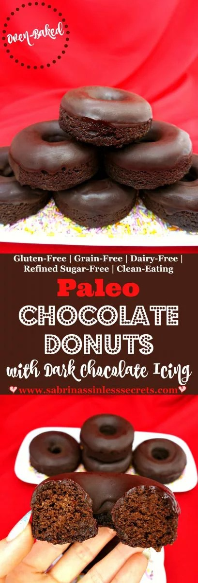 Say hello to fluffy and delicious chocolate donuts that are shockingly Paleo, gluten-free, grain-free, dairy-free, refined sugar-free, clean-eating, and easy to make! These Paleo Chocolate Donuts with Dark Chocolate Icing will satisfy your sinful cravings and washing away all your desires for the bad ones. Another plus is that they're oven-baked—so no frying needed!