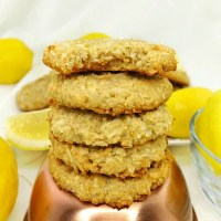Paleo and Vegan Chewy Lemon Coconut Cookies