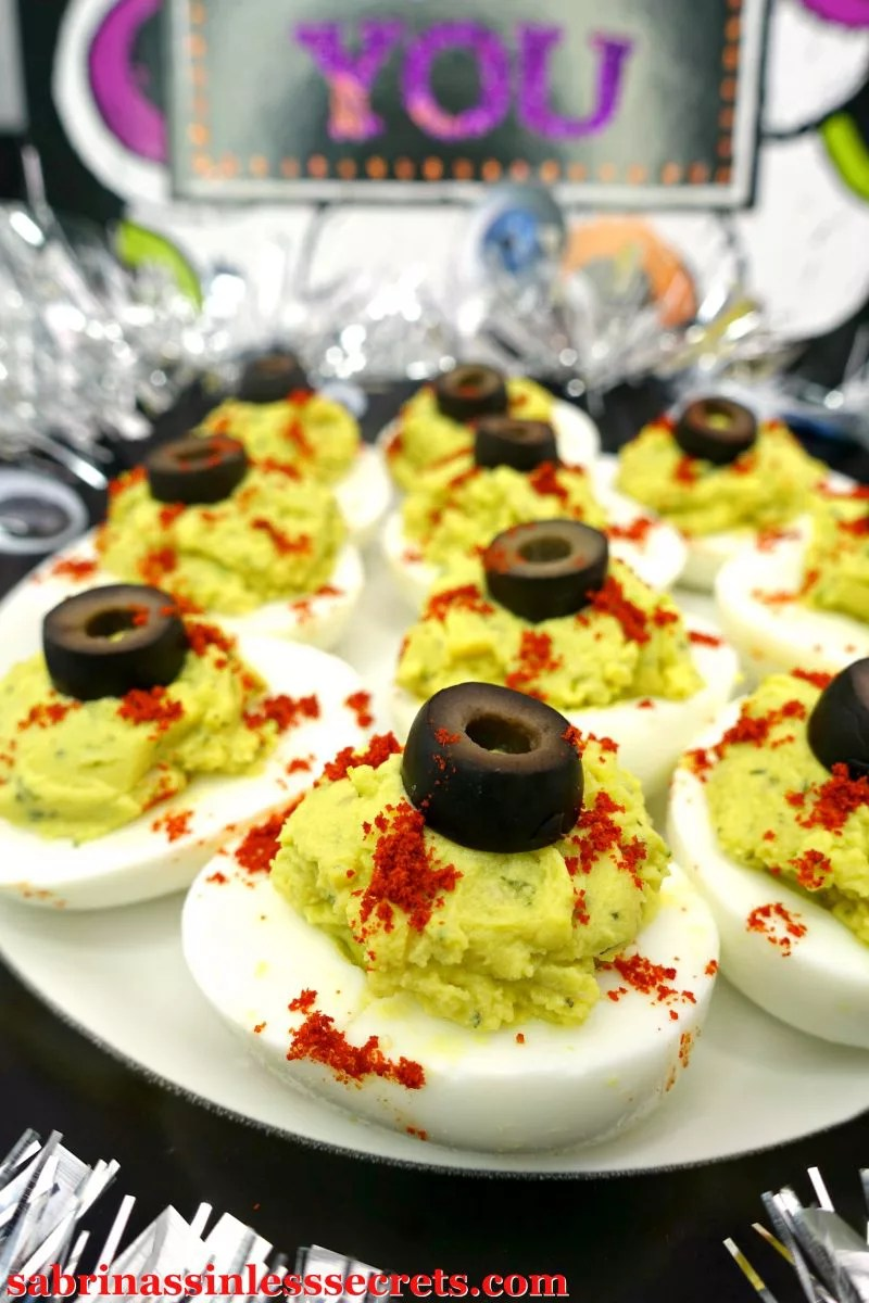 For These Deviled Eggs Were Ditching The Mayonnaise And Replacing It With Avocado