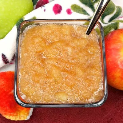 The Best Paleo Slow-Cooker Applesauce is here and I give all the credit to my mom, Kimberly! This recipe can be adjusted to your liking—whether you like your applesauce completely smooth, chunky, or with a little texture this is your go-to! This applesauce is perfectly sweet and all-natural! Eat it as a side or snack or even use it as a healthy substitute! It's gluten-free, dairy-free, refined sugar-free, and clean-eating!