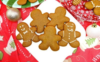 Paleo and Vegan Cut-Out Gingerbread Men Cookies