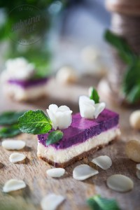 macadamia blueberry cheesecake blossoms