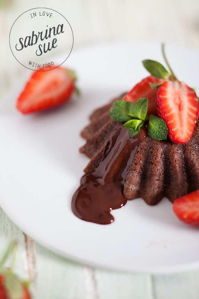 Strawberry Lava Cake