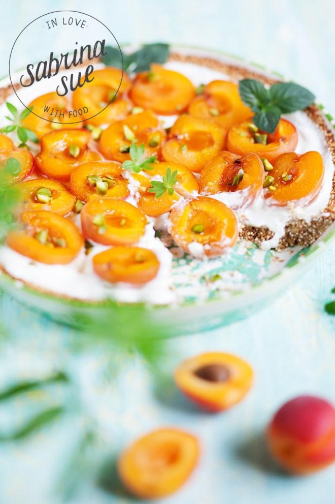 Griechische Aprikosen Quinoa Tart