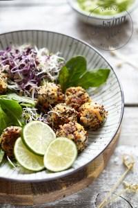 Quinoa Karottenbällchen & Avocado Creme