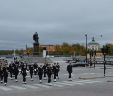 Passed by during the changing of the guards