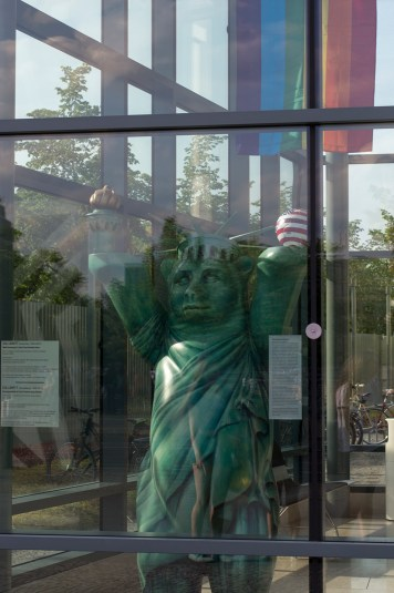 Statue of Liberty Bear at the American Embassy
