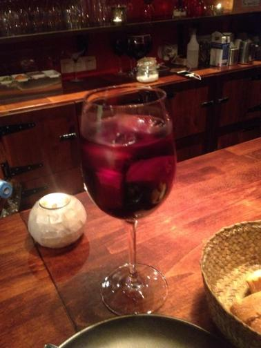 Sangria, which I have discovered I don't like