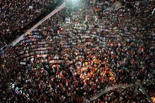 Tahrir square asking Sisi to fight terrorism.