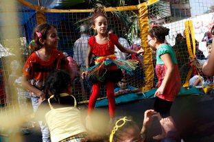 Kids enjoying Eid in Nahda square.
