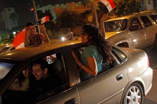 Celebrating Morsi's ouster.
