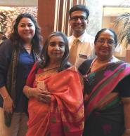 (L-R) Kanchan Satpathy, Gowri Ishwaran,Manish Puri, Meera Balachandran