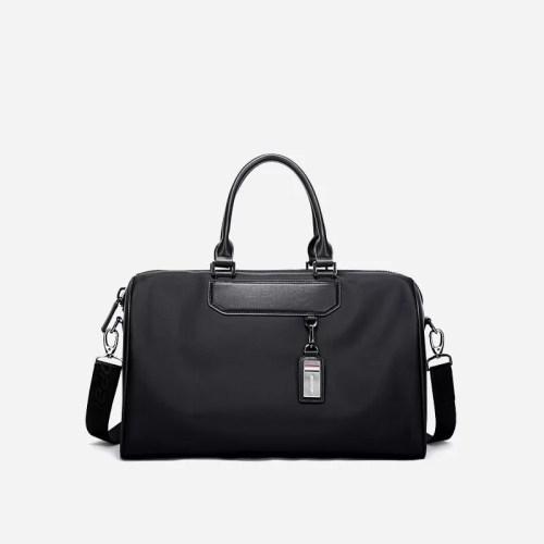 Sac à bandoulière et sacoche noir pour homme avec plusieurs poches zippées et poches intérieures. Bopaibag Classic.