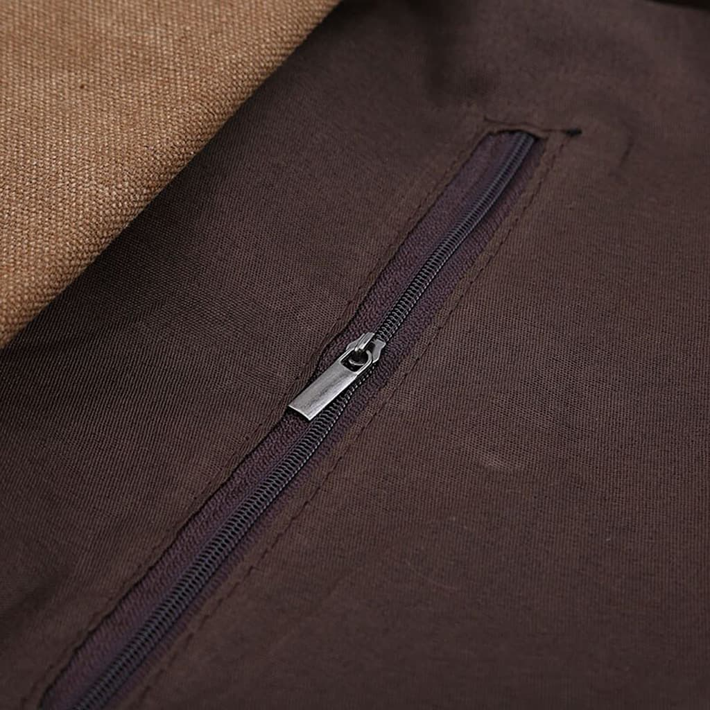 Détail de la fermeture éclaire de la poche zippée du sac besace.