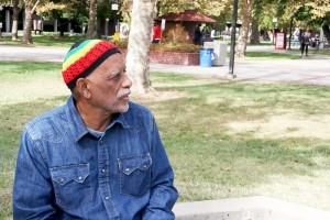 Fred Foote on City College's campus. Photo by Teri Barth.