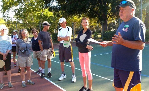 Pat Murphy explains Pickleball at Curtis Park