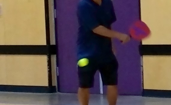 Pickleball back swing take back