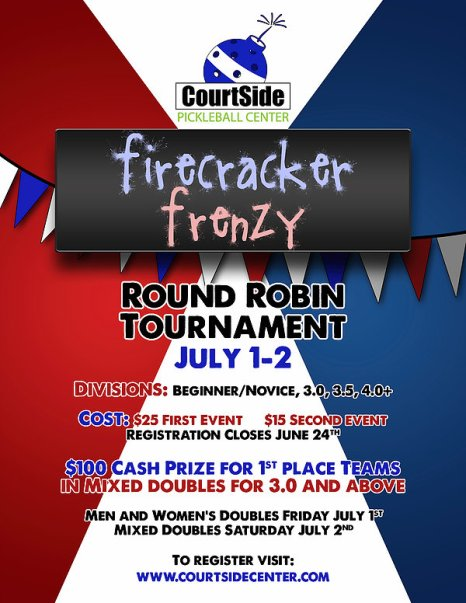 CourtSide Tournament Flyer