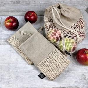 Sac pour fruits et légumes en filet réutilisable