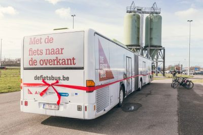 Fietsbus Antwerpen port of antwerp
