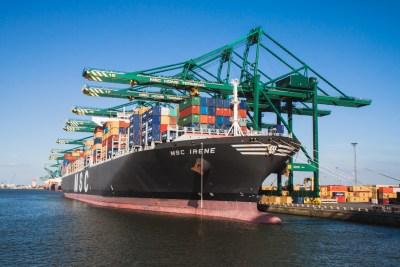 MSC vessel Port of Antwerp