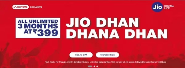 Reliance Jio latest offer